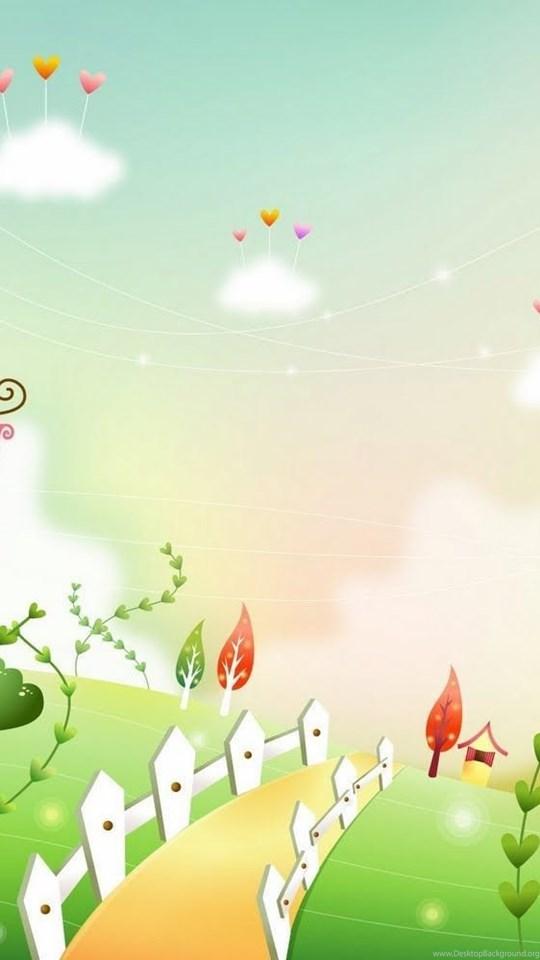 Gambar Dunia Kartun Fantasi Yang Cantik Cantik Hd Wallpapers Android Desktop Background