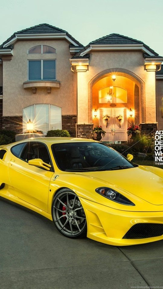 Adv1 Wheels Ferrari F430 Tuning Yellow Wallpapers Desktop Background
