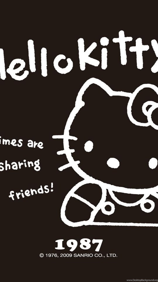 3c1df08a7 Hello Kitty Wallpapers Black Wallpapers Cave Desktop Background