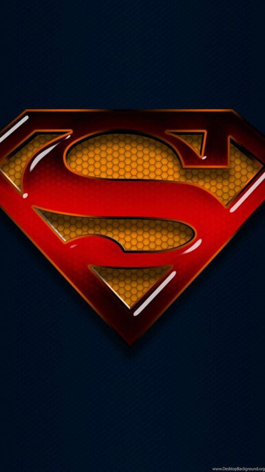 Download Superman S Shield Blue Mobile Wallpapers Phone For Desktop Background