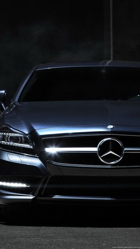 Mercedes Benz Front Black Car Night Hd Wallpapers Desktop Background