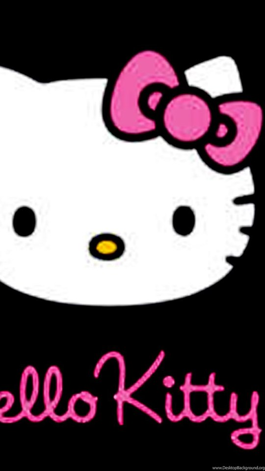 hello kitty pink and black love wallpapers for android