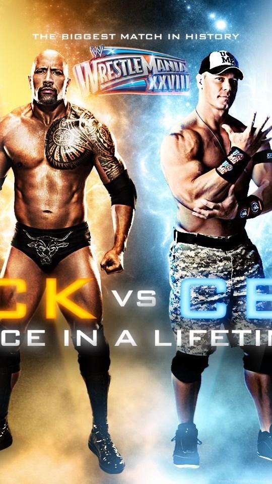 Wrestlemania 28the Rock Vs John Cena Wwe Wallpapers 30107796