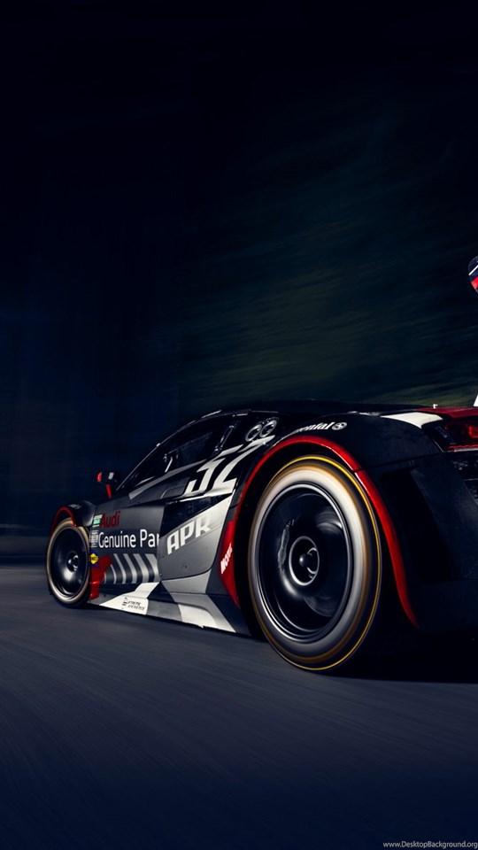 Audi R8 Race Car Racing Night Hd Wallpapers Desktop Background