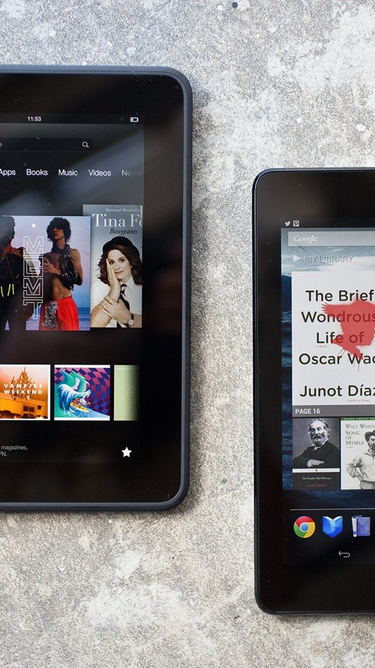 Tablet Smackdown: Kindle Fire HD And Nexus 7 Desktop Background