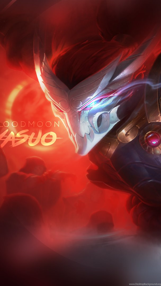 Blood Moon Yasuo Fan Art League Of Legends Wallpapers Desktop Background