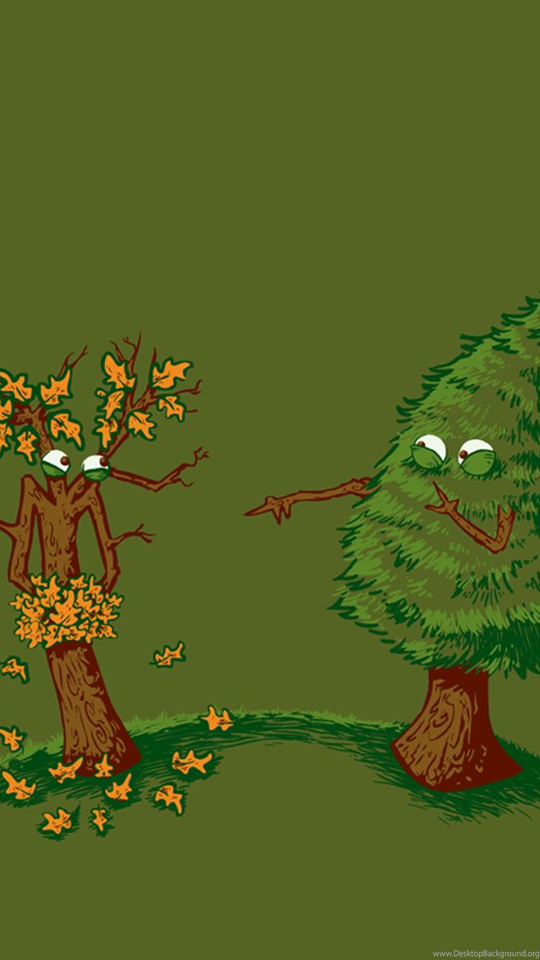 Смешные рисунки с деревьями, для