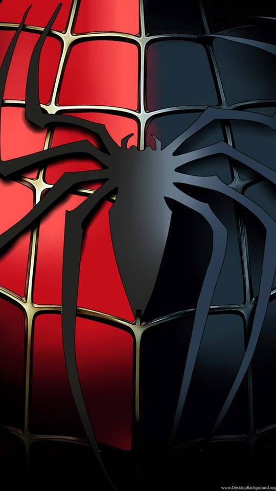 Spiderman Black Red Logo Desktop Download Hd Wallpapers And Free