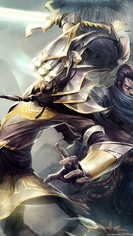 Master Yi Vs Yasuo Fan Art League Of Legends Wallpapers Desktop