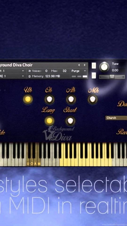 Backgrounds Diva Solo Vocal & Choir Library For Kontakt