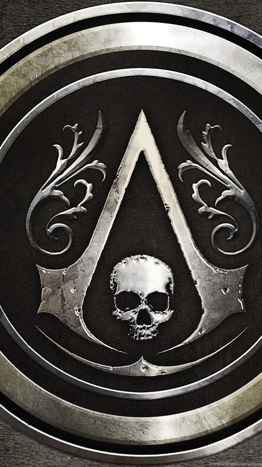 Skulls Assassins Creed Logos Black Flag Wallpapers Desktop