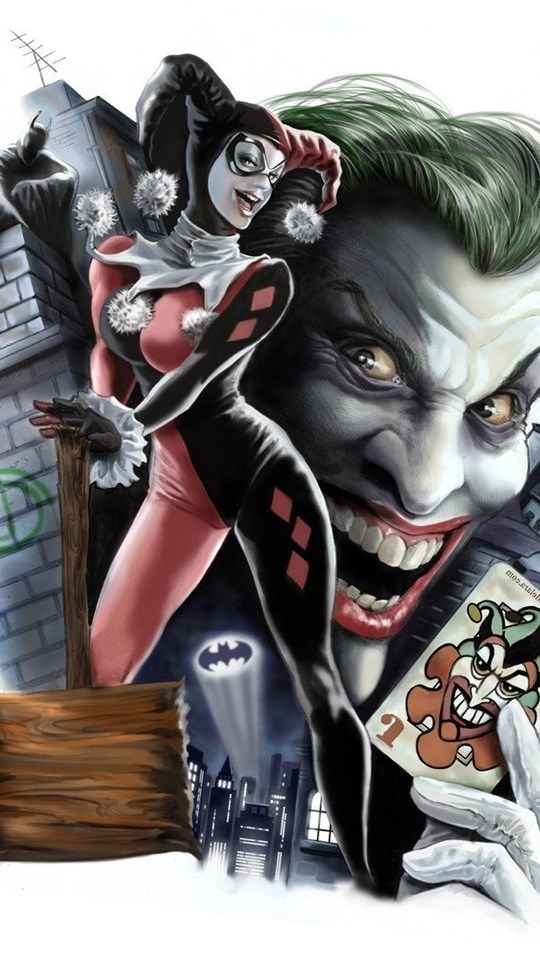 Harley quinn batman joker dc comics digital art - Harley quinn hd wallpapers for android ...