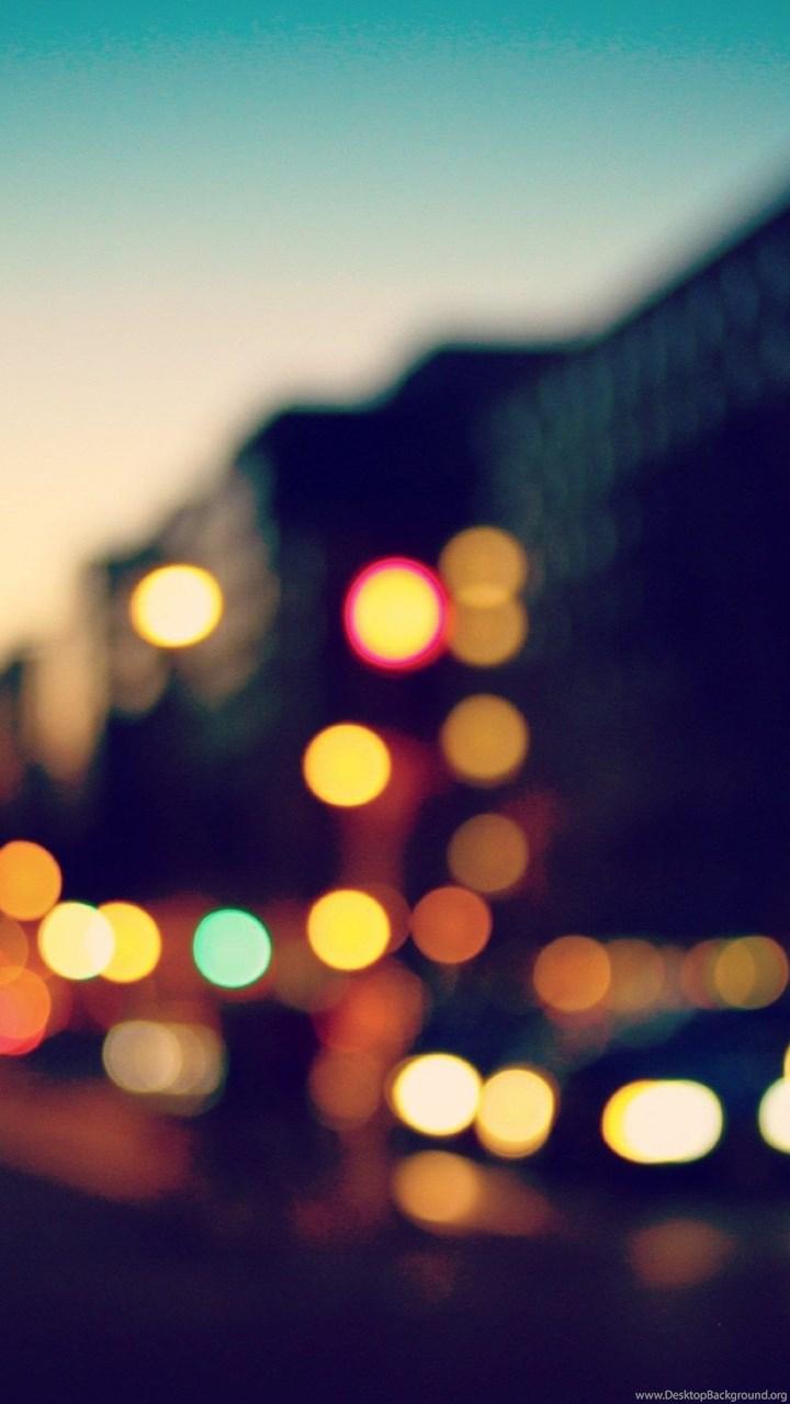 blurred city lights wallpapers desktop background