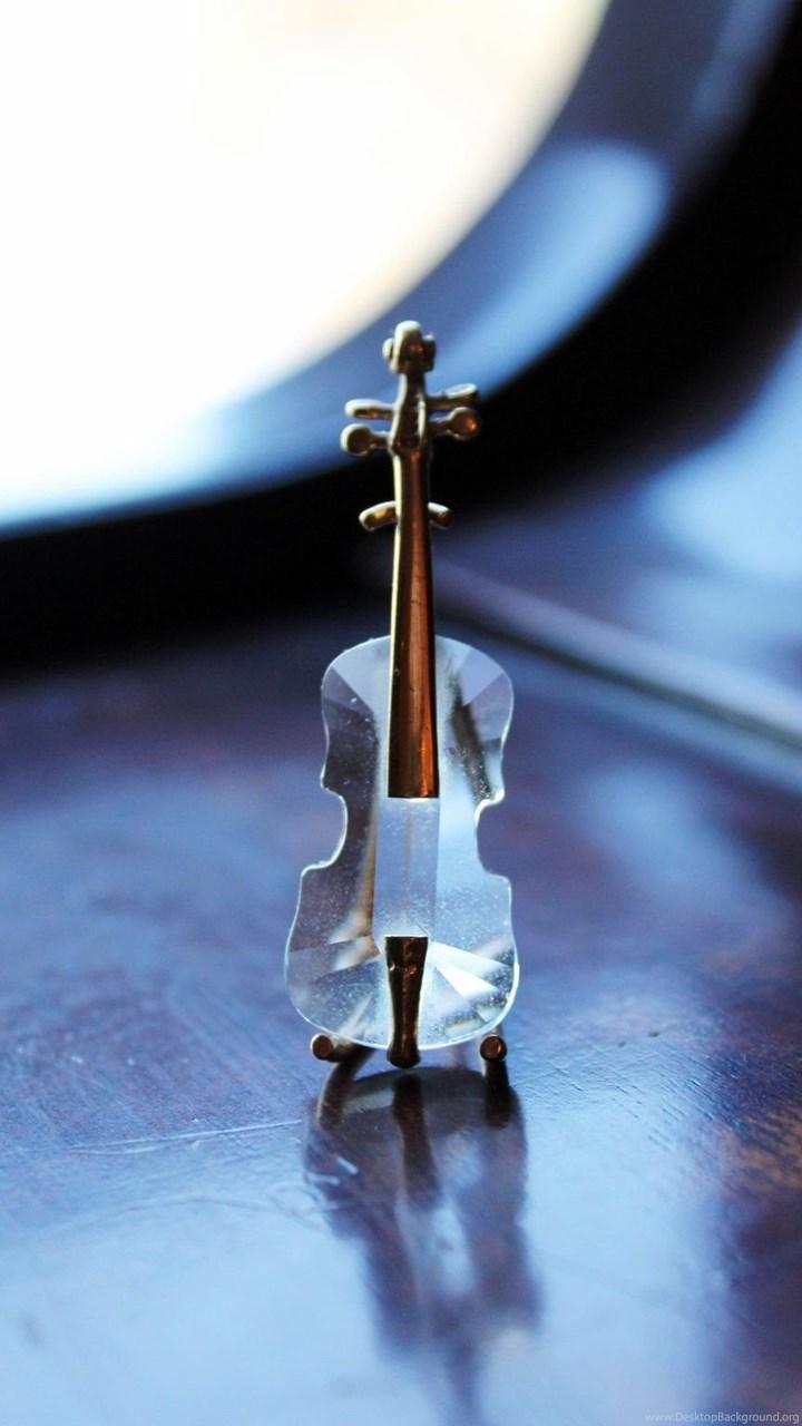 Beautiful Glass Violins Wallpaper Desktop Background