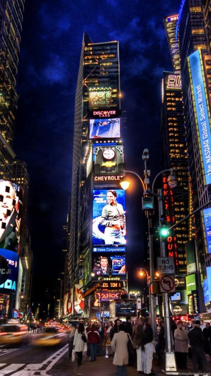 4k Ultra Hd Times Square Wallpapers Hd Desktop Backgrounds