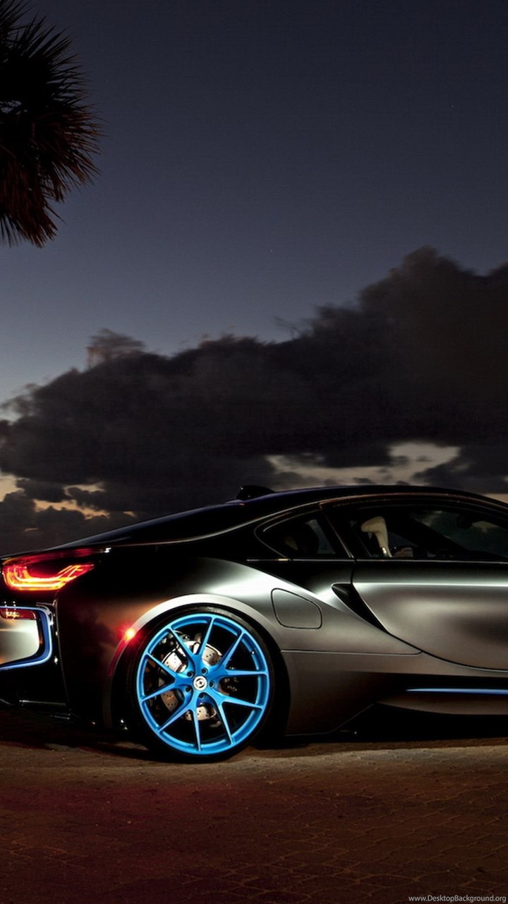Download Wallpapers 3840x2160 Bmw I8 Night Side View 4k Ultra Hd