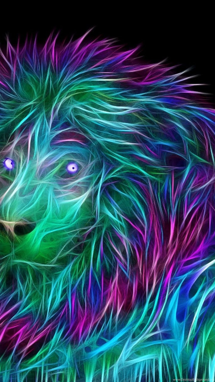 Download Wallpapers 3840x2160 Abstract 3d Art Lion 4k
