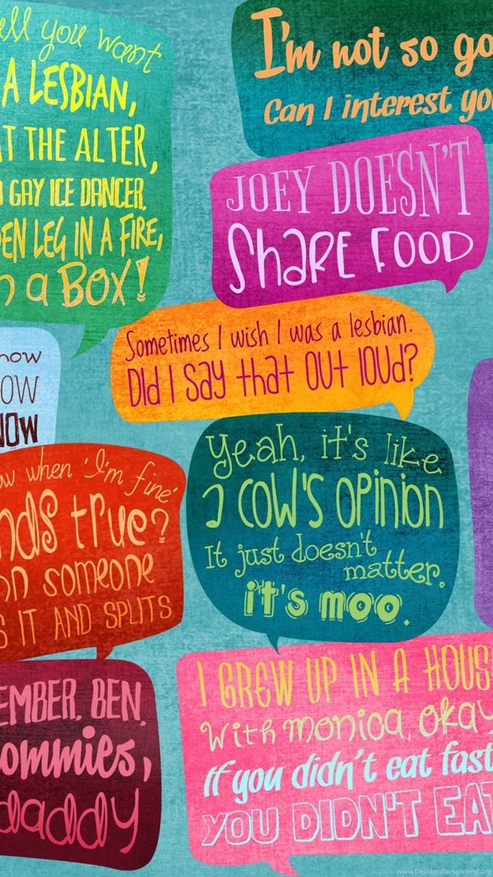 Friends Tv Show Quotes Wallpapers Desktop Background