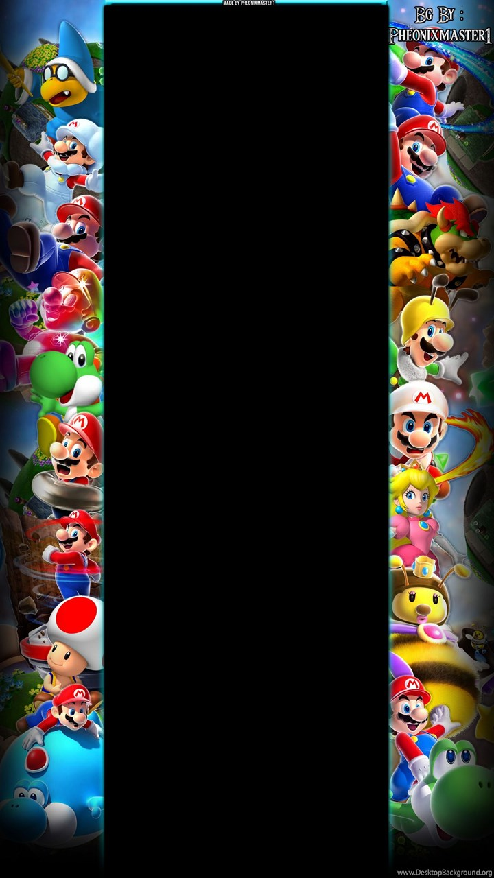 Super Mario Galaxy Youtube Backgrounds By Pheonixmaster1 On
