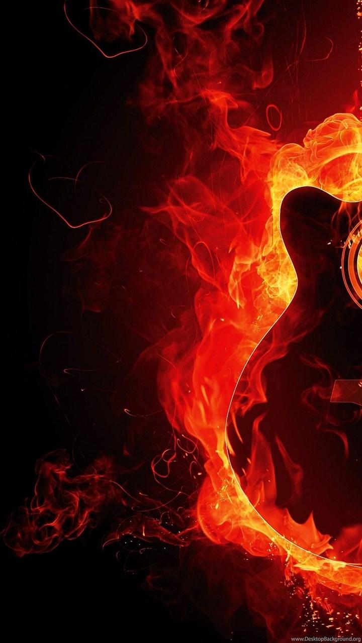 Awesome guitar fire wallpapers hd 2818 desktop background fullscreen thecheapjerseys Gallery