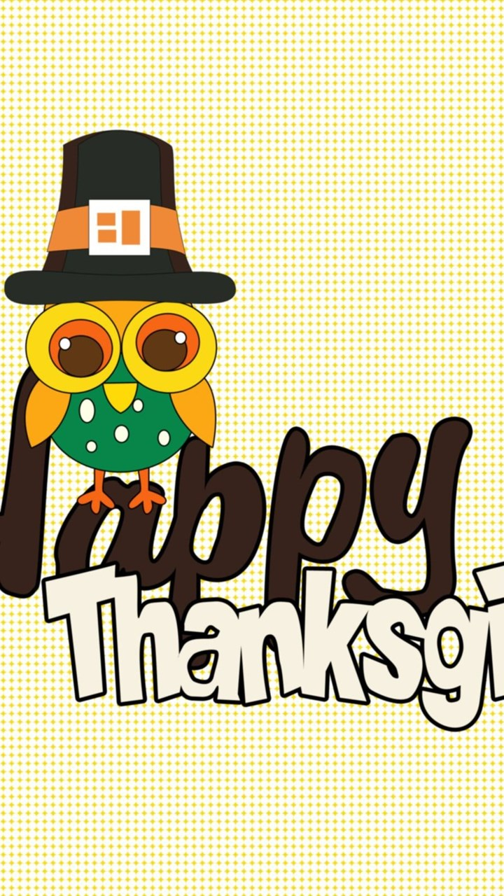 Cute Owl Wishing You Happy Thanksgiving Wallpapers Holiday