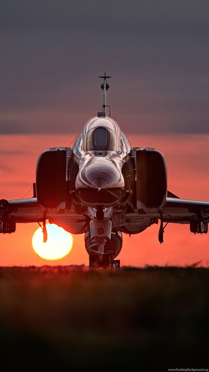 Aircraft F 4 Phantom Ii Sunset Military Aircraft Wallpapers Hd