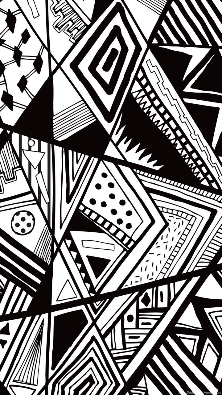Funmozar Black Geometric Wallpapers Desktop Background