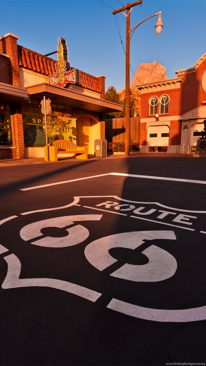 Route 66 Cars Wallpaper Desktop Background