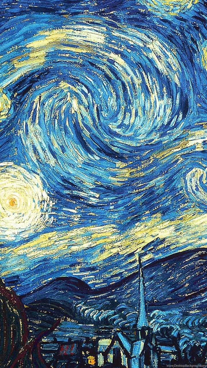 Wallpapers Full Hd Van Gogh Starry Night 2560x1600 Desktop Background