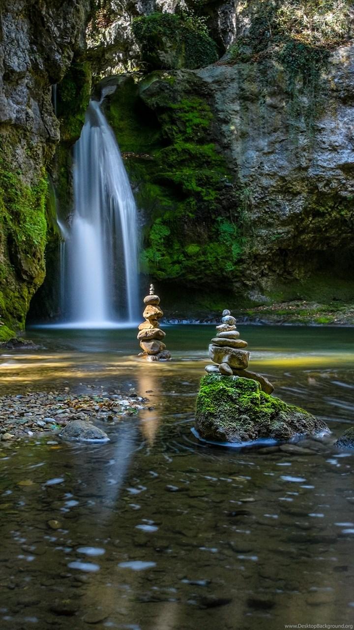 zen garden waterfalls hd wallpapers 4k wallpapers desktop