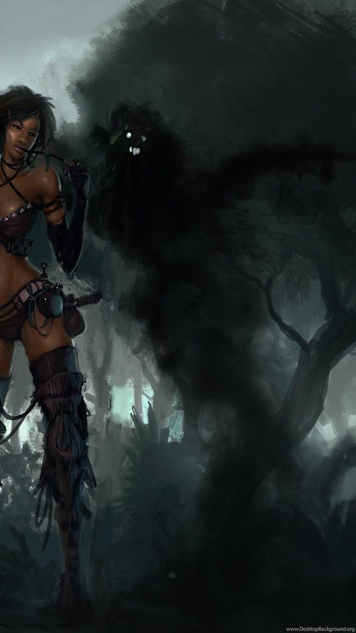 Dark Girl Puter Wallpapers Desktop Backgrounds Desktop