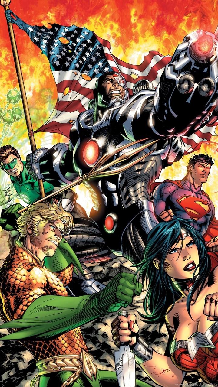 Dc Comics Justice League New 52 Wall Mural Desktop Background