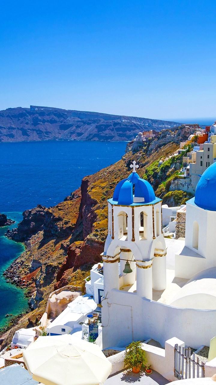 Best Santorini Cyclades Islands Aegean Sea Greece 4k Wallpapers Jpg Desktop Background