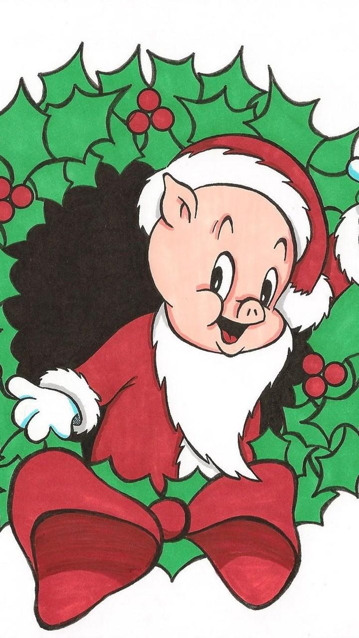 fullscreen - Blue Christmas Porky Pig