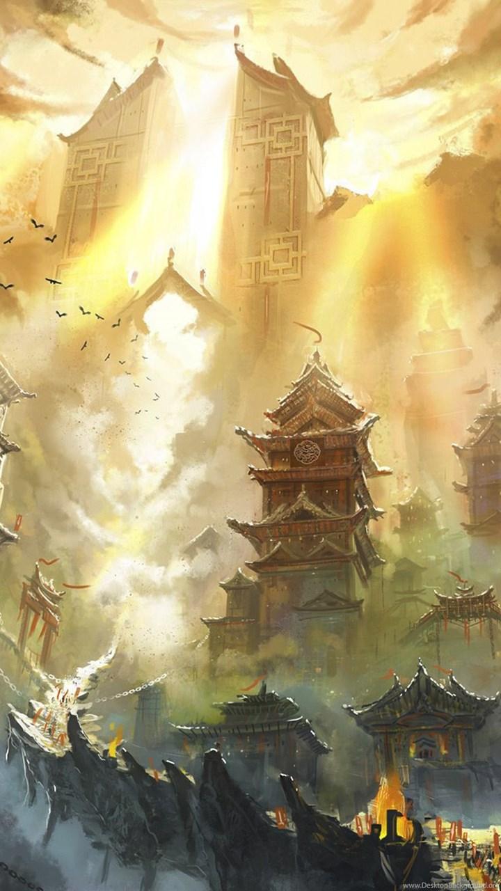 Anime Fantasy Landscape Wallpapers Desktop Background