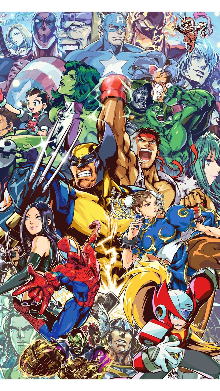 13 Quality Marvel Vs Capcom Wallpapers Video Games