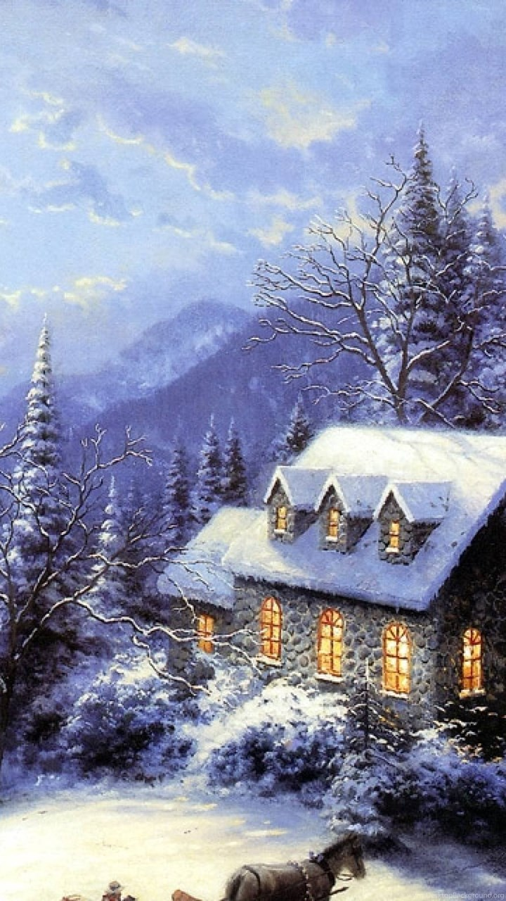 2015 Free Thomas Kinkade Christmas Screensavers Wallpapers