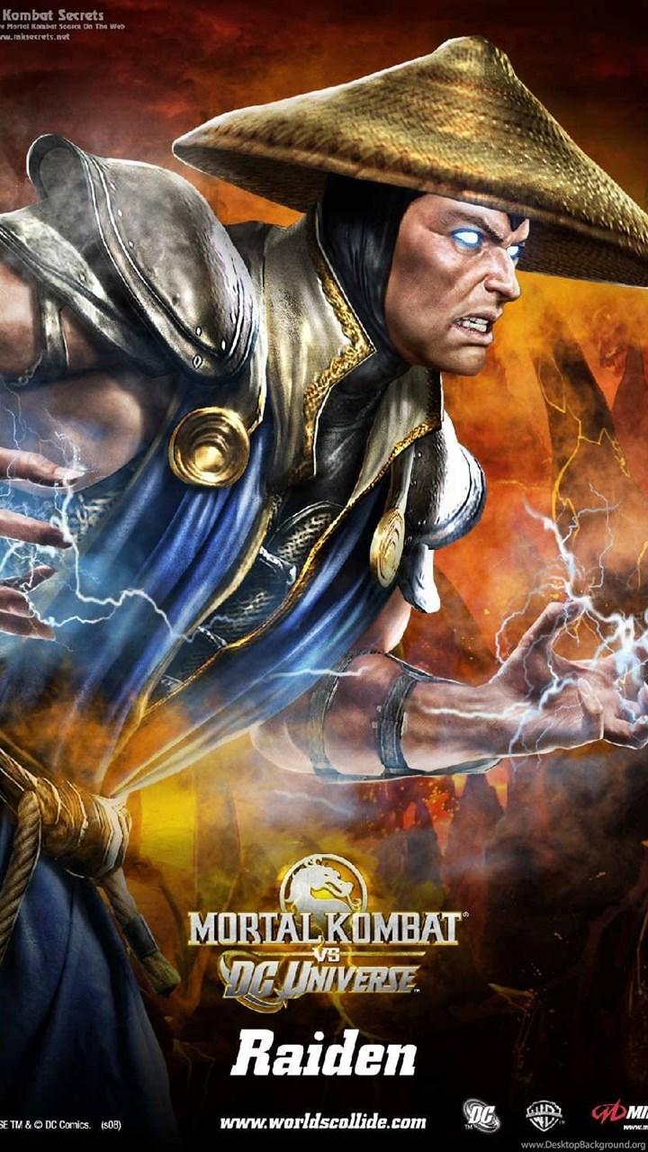 Raiden Mk Vs Dcu Thunder Mortal Kombat Wallpapers Desktop Background
