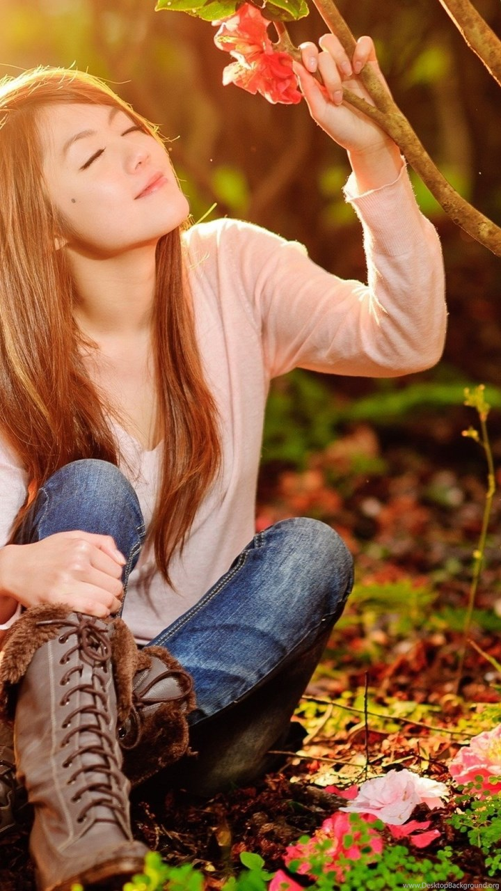 nice girl in the forest wallpaper,girl hd wallpaper,girls hd