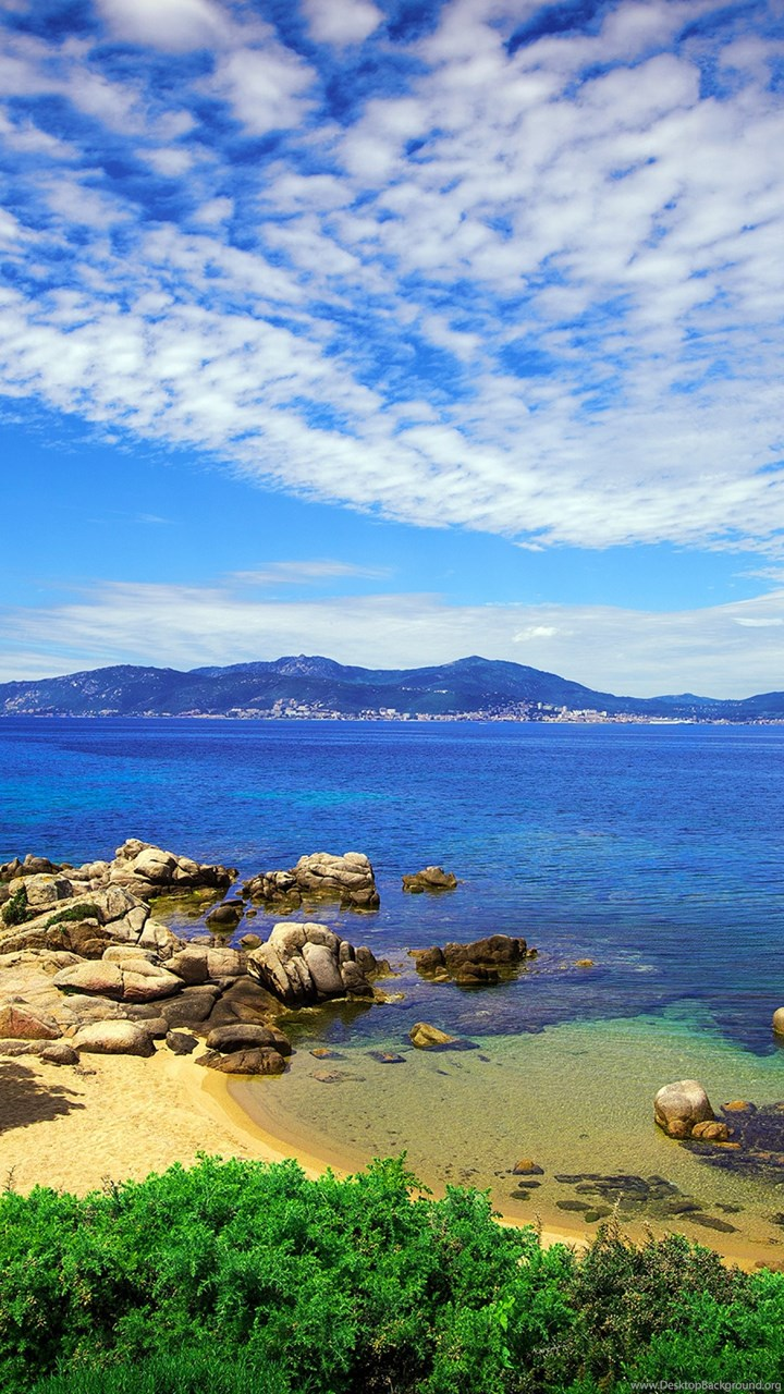 download wallpapers 3840x2400 beach sky grass sea