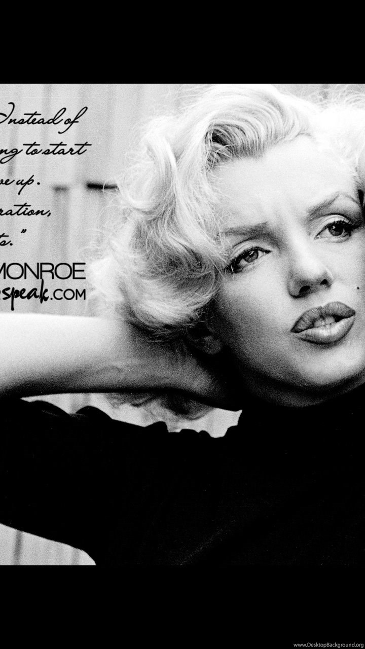 Wallpaper Marilyn Monroe Quote On Acting With Photo Desktop