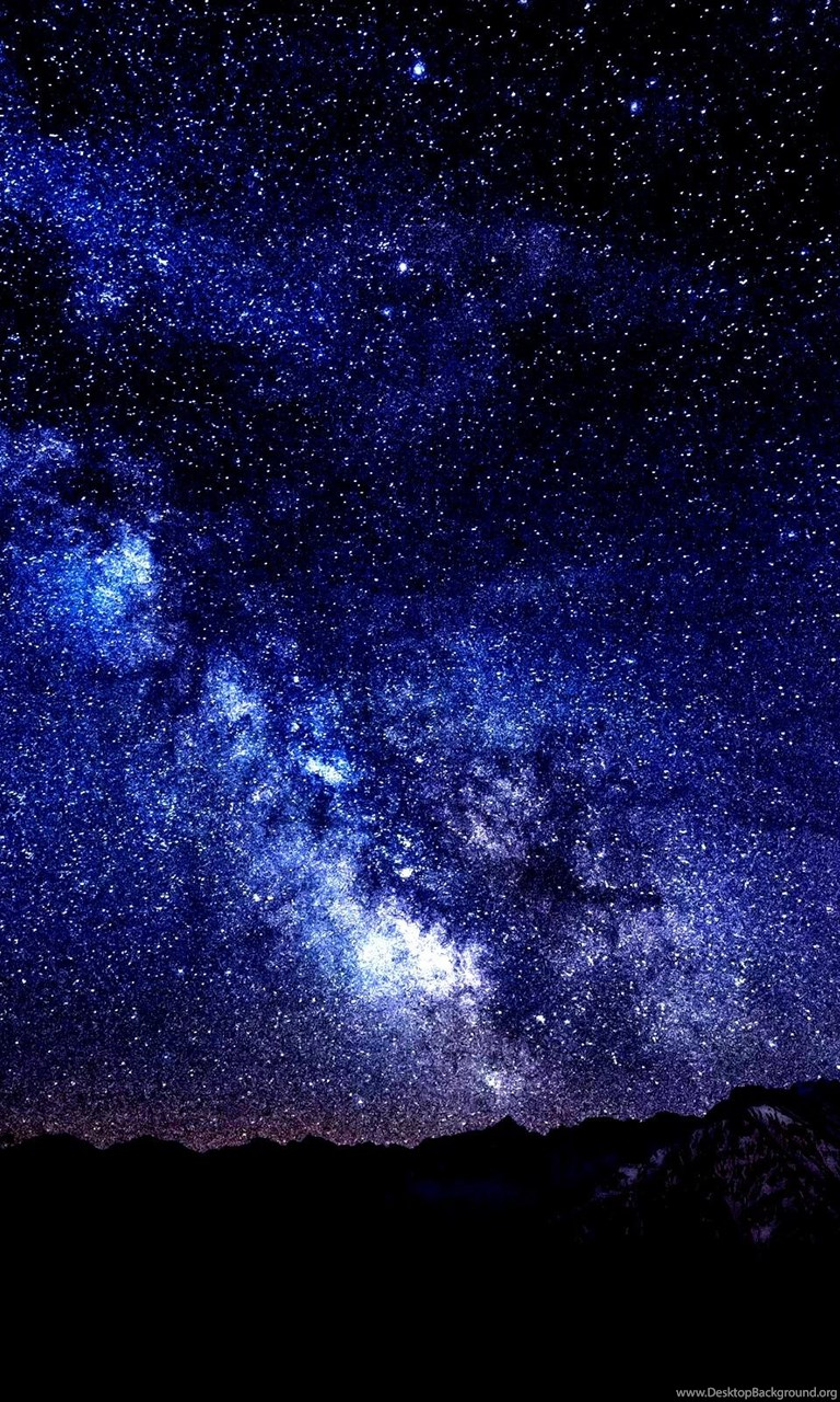 Mountains Night Sky Stars Hd Wallpapers Desktop Background