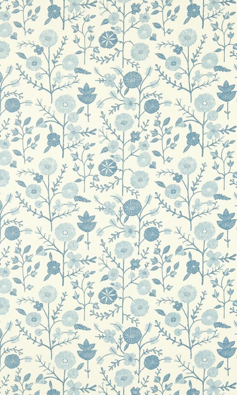 Batik Garden Sanderson Mineral Blue Wallpapers Direct Desktop Android Wallpaper