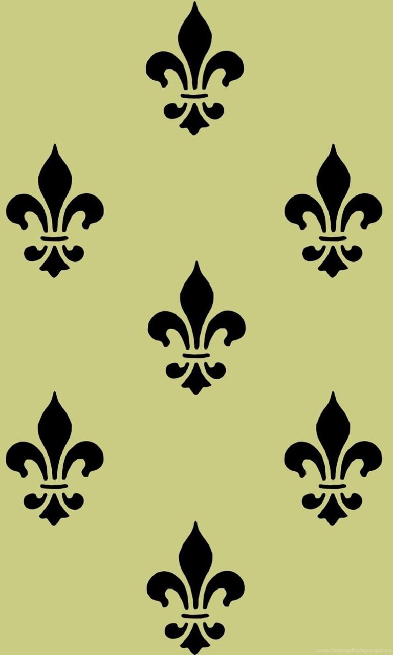 Fine Black Fleur De Lis Wall Decor Ornament - Wall Art Collections ...