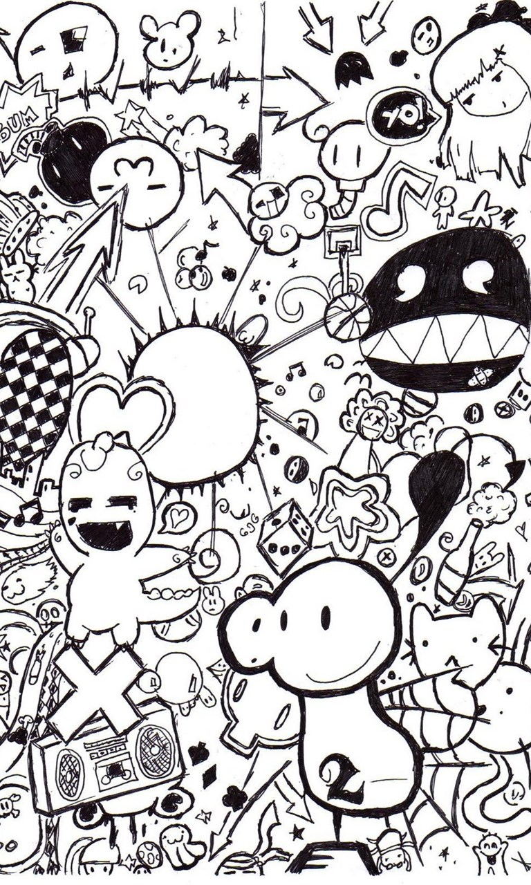 Doodle Art Posters Wallpapers Desktop Background Android Wallpaper Hd
