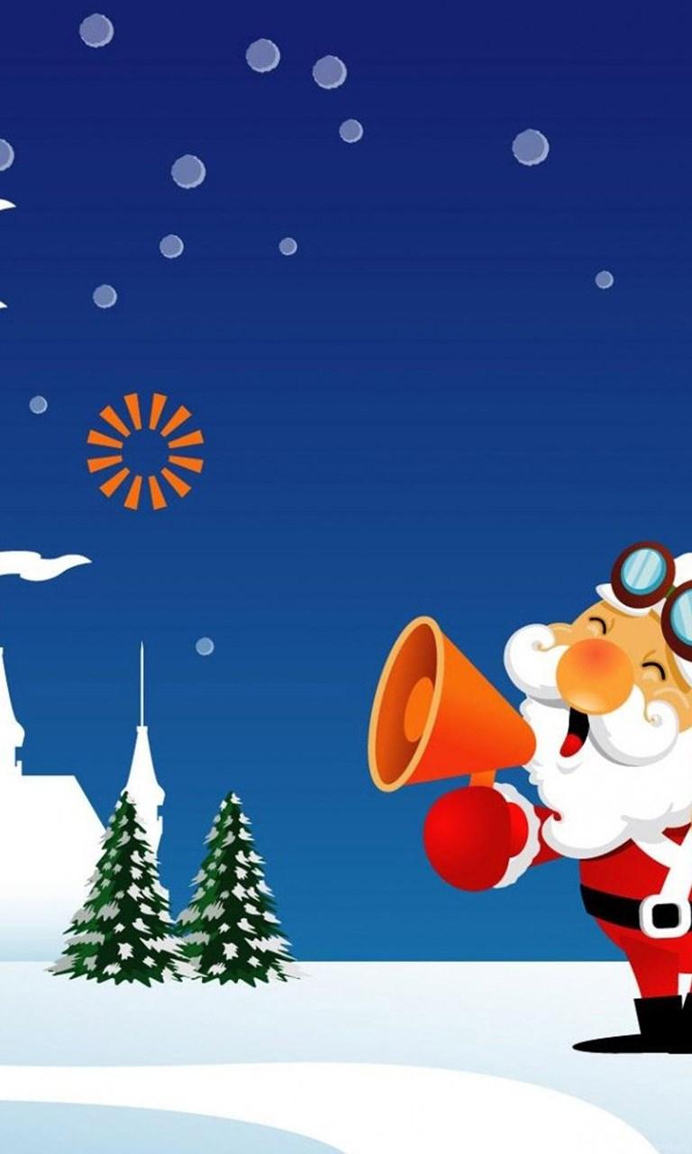 Funny Santa Claus Is Calling Hd Wallpapers Iphone 6 Plus Desktop