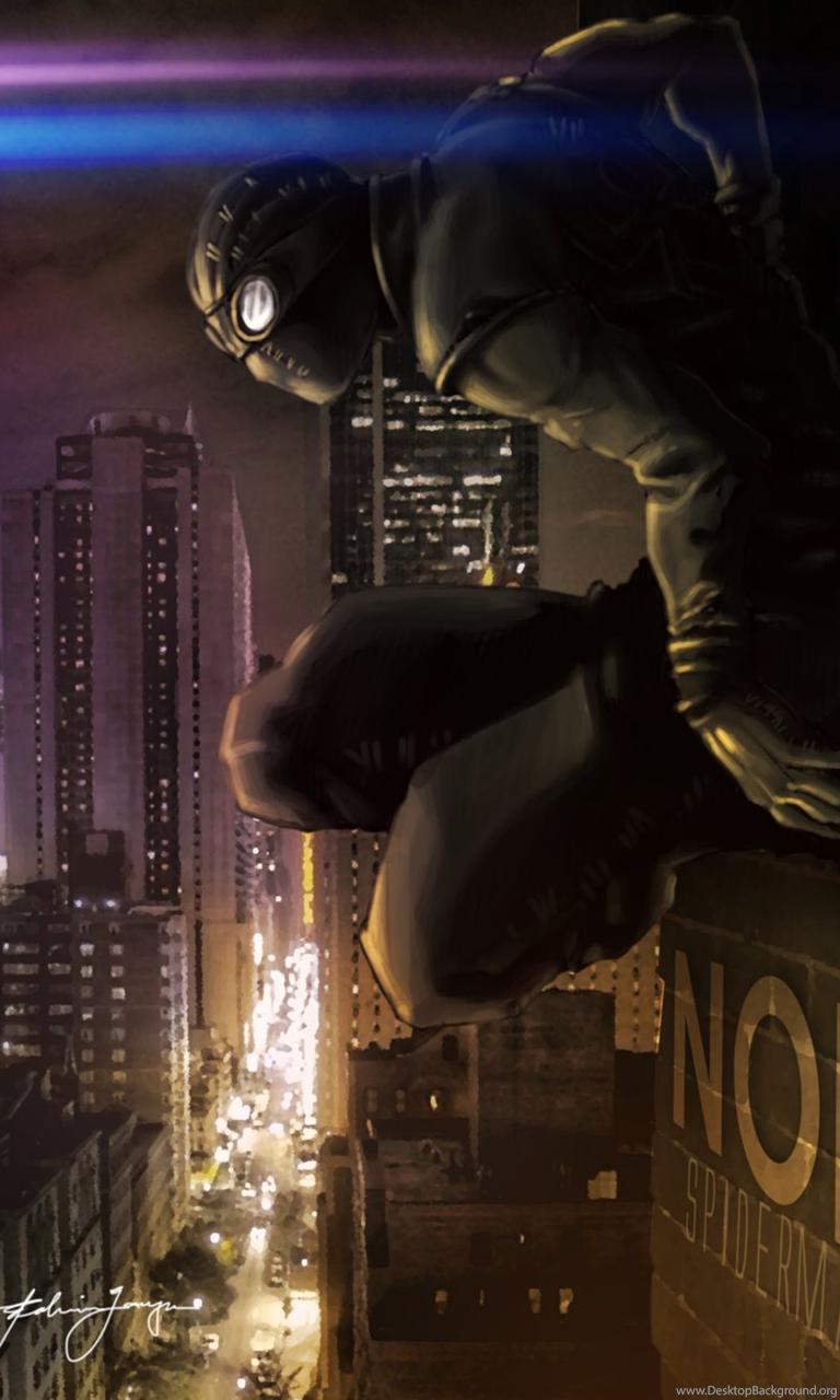 Spiderman Noir By Destinchill On Deviantart Desktop Background