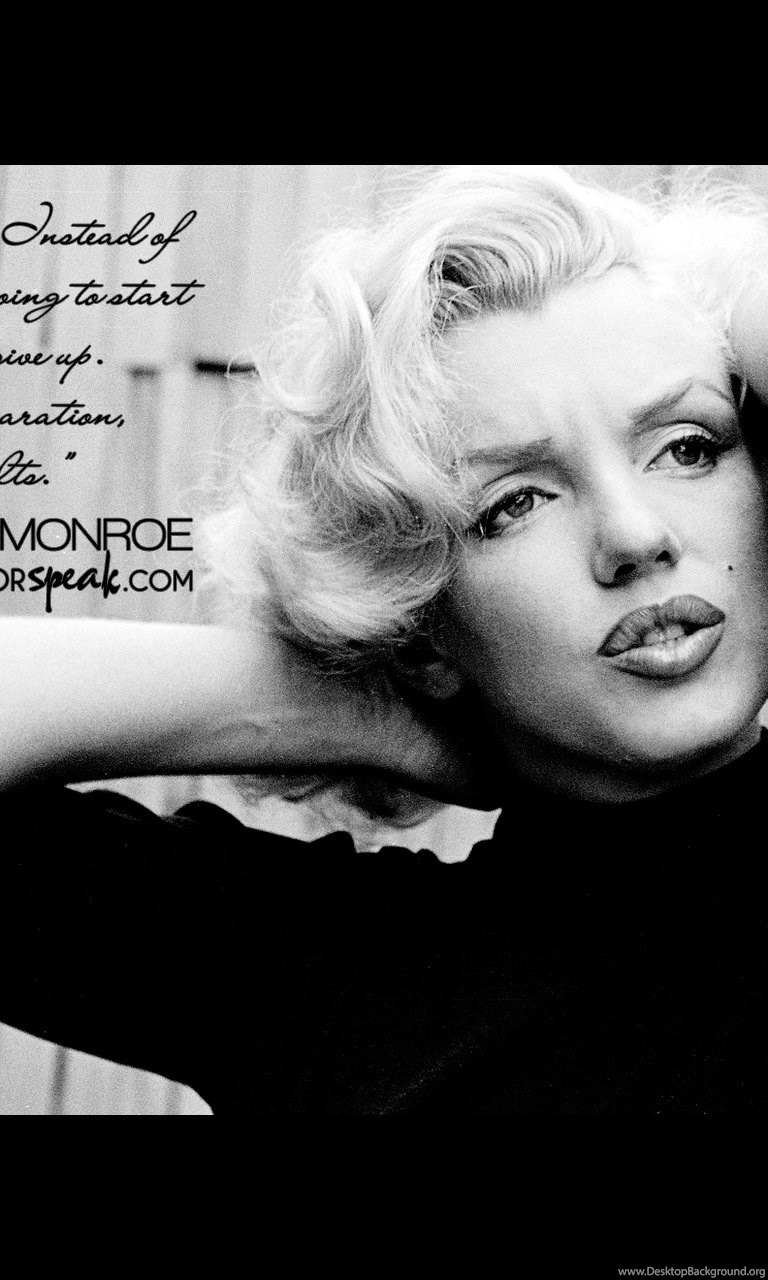 Wallpaper marilyn monroe quote on acting with photo desktop background - Marilyn monroe wallpaper download ...