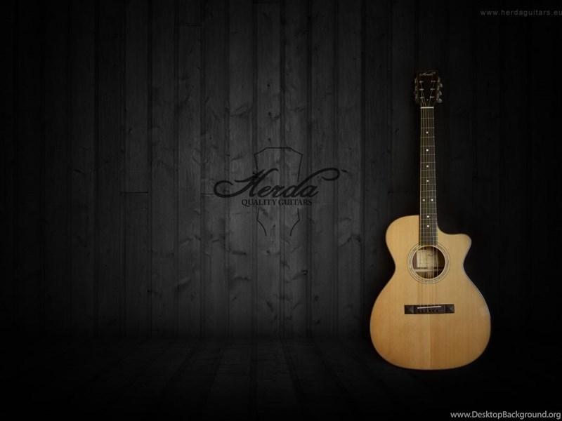 Black And Brown Acoustic Guitars Wallpaper Guitar Acoustic
