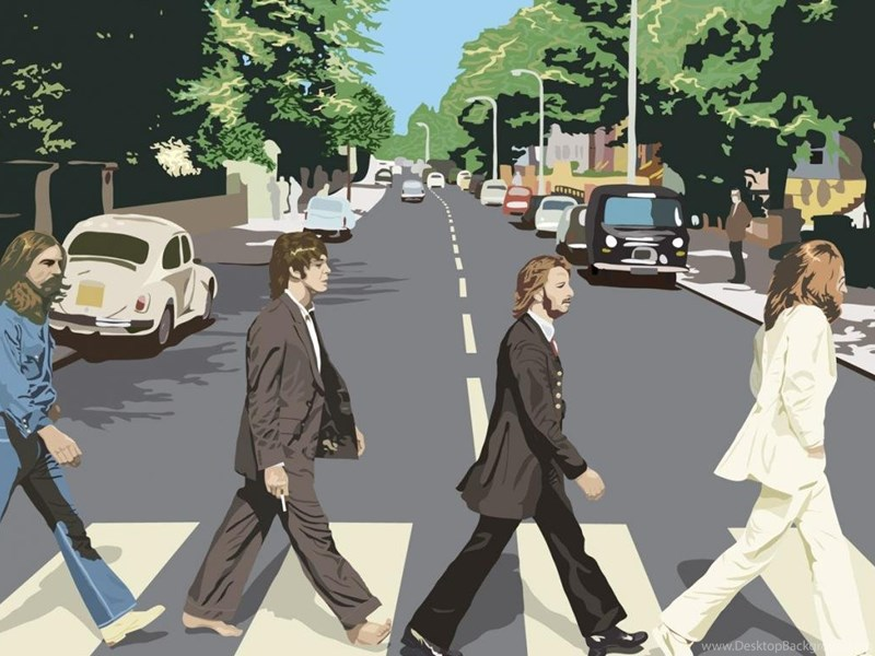 Beatles Vector Abbey Road Music Image Hd Wallpapers Desktop Background